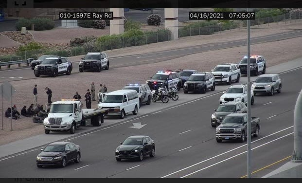 An Arizona Department of Public Safety trooper wrote in a report that he identified people in a van as undocumented immigrants based on odor on April 16, 2021.