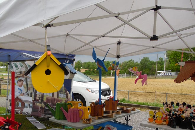 Jim Cessna of Millville will bring his handmade wooded birdhouses to the craft fair at the Shoppes at Dragon Village June 19 and 20.