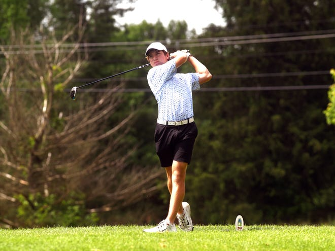 Jack Porter, of West Muskingum, takes part in the 43rd annual Zanesville District Golf Association Amateur tournament. He competed in the Under Armour Summer Nationals and earned All-American honors with a sixth-place finish.