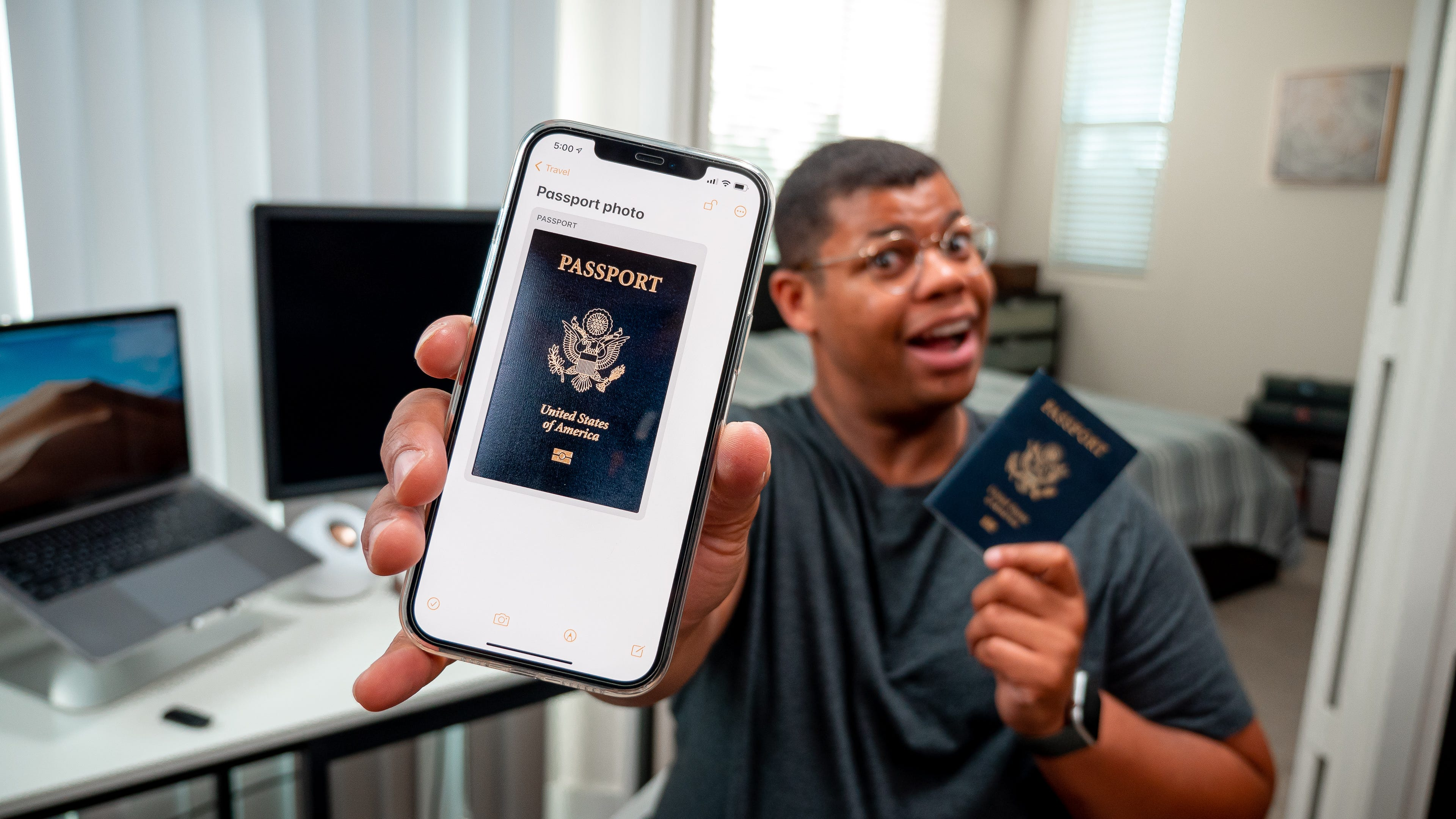 How to keep travel documents secure on phone