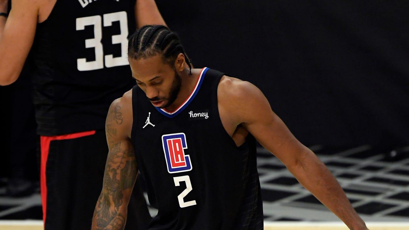 Clippers' Kawhi Leonard miss Game 5 vs. Utah Jazz and maybe beyond with knee injury