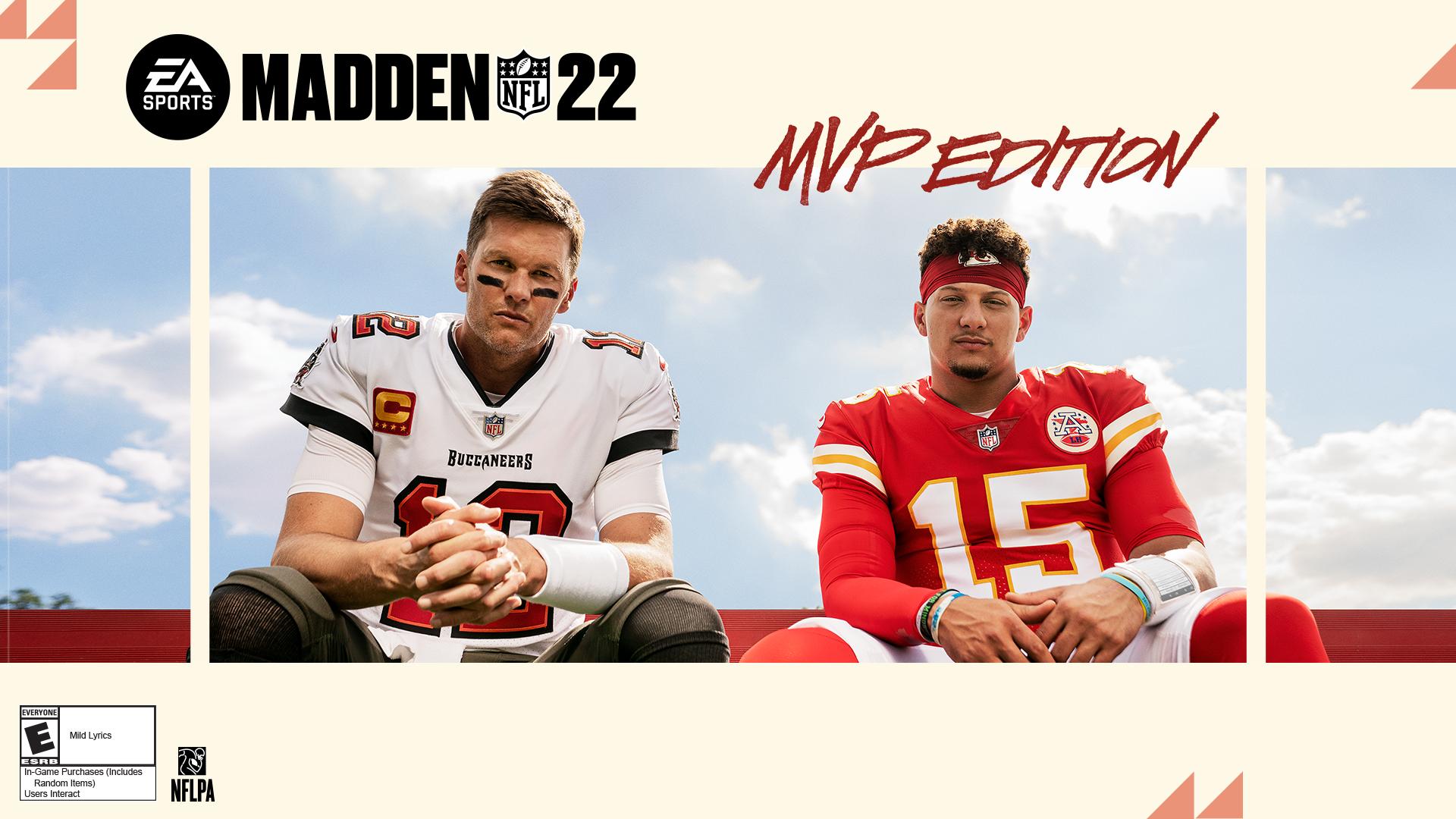 Tom Brady, Patrick Mahomes co-star on cover of 'Madden NFL 2022'