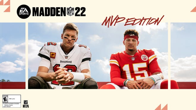 """Tom Brady and Patrick Mahomes share in """"Madden NFL 22"""" cover honors after meeting in Super Bowl 55."""