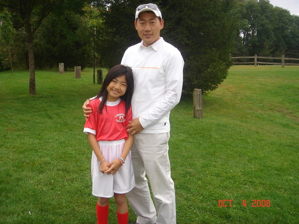 My dad managed to come to every single one of my soccer games when I was in elementary school — and he came early to pick a spot that was closest to me.