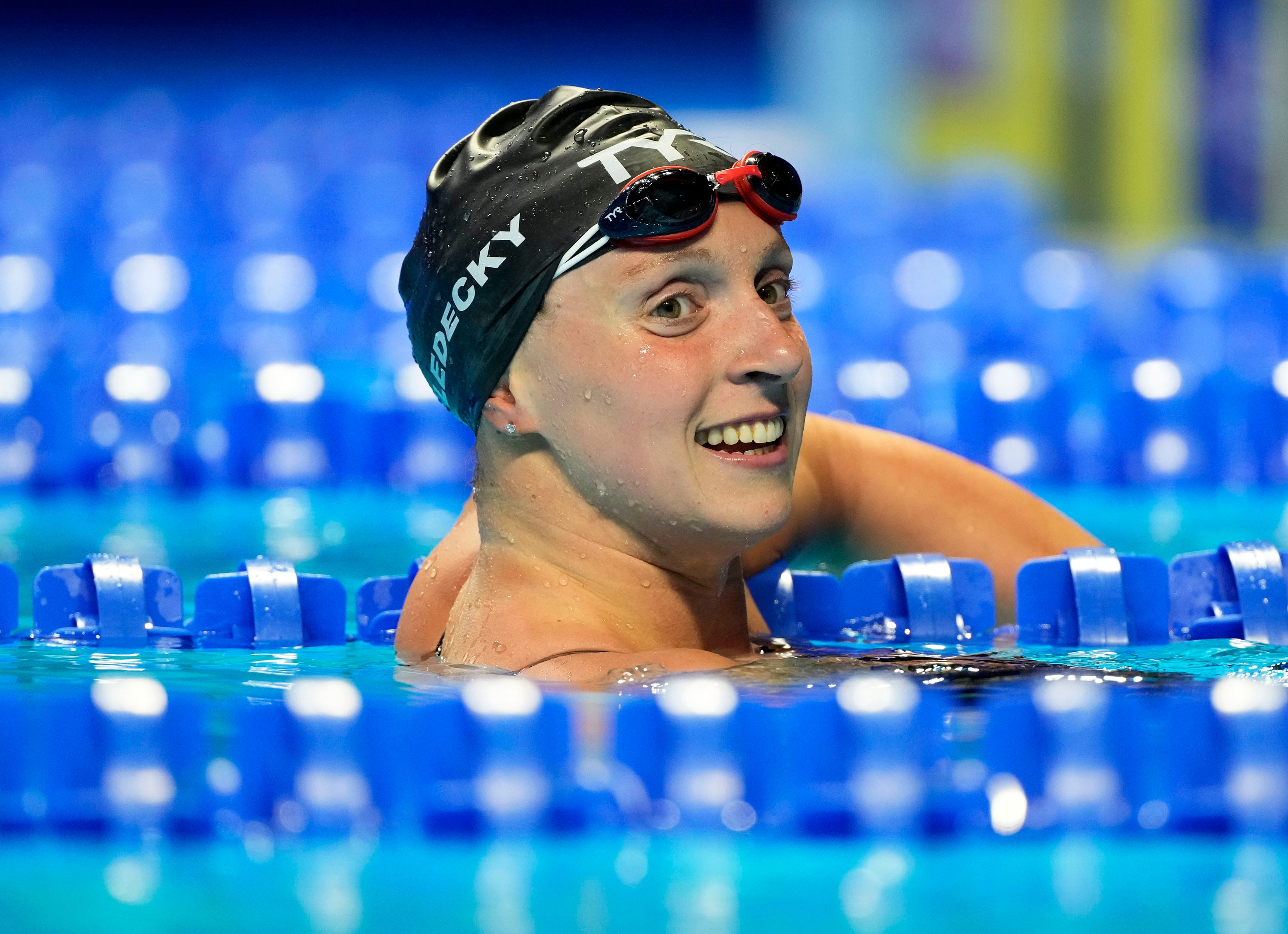 After shaking off nerves, Katie Ledecky tackles her toughest day at Olympic swim trials