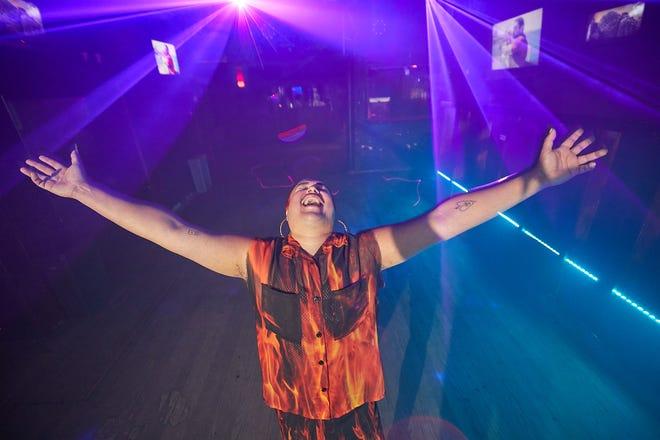 Glitoris, aka Jon-Erik Garcia, is a fixture on the Austin nightlife scene who created Barbarella's famous Tuezgayz dance night. He's seen here on the dance floor inside of the club on June 8.