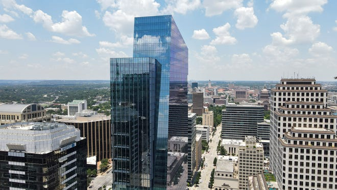 Indeed Tower was recently completed in downtown Austin. The 36-story office high-rise is being bought by a California firm for $580 million.