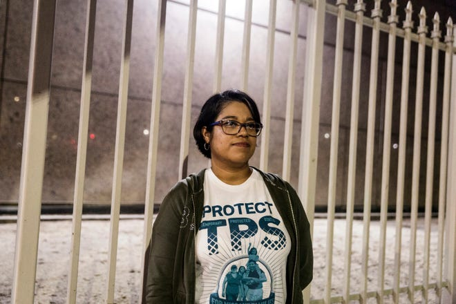 Veronica Lagunas, a Temporary Protected Status (TPS) beneficiary from El Salvador, is shown in 2017 in Los Angeles. Today, there are 411,000 TPS holders in the U.S. from countries including Nepal, Haiti, Honduras and Yemen.