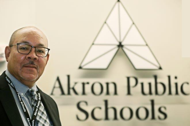 Akron Public Schools Superintendent David James is retiring this week.
