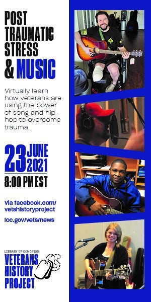 Veterans History Project hosts June panel on Post-Traumatic Stress and the Healing Power of Song