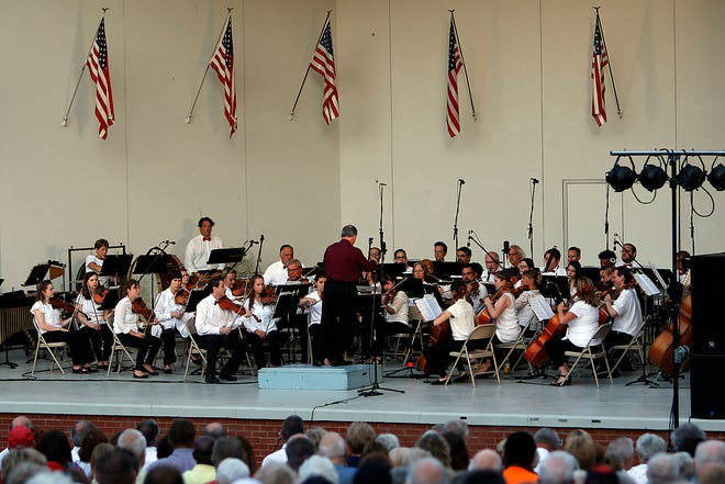 Ashland Symphony Orchestra played their annual Pops in the Park concert Sunday, June 30, 2019 at Myers Band Shell at Brookside Park under the direction of guest conductor Roland Blackley. Tom E. Puskar, Times-Gazette.com