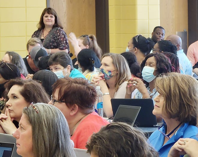 More than 150 area public school teachers gathered last week in Louisville to identify and make plans to address learning gaps caused by the pandemic.