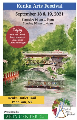 """This year's Keuka Arts Festival poster art was created by the Arts Center of Yates County's """"Artist-of-the-Year,"""" Daryl Davis."""