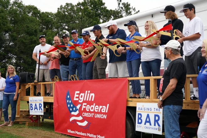 The City of Crestview, Eglin Federal Credit Union and Crestview Area Chamber of Commerce officially open the Eglin Federal Credit Union Skate Park on June 5 in Crestview.
