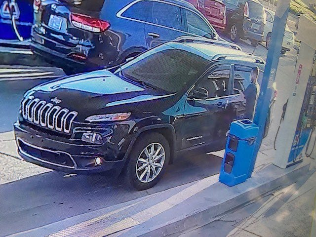This black Jeep Cherokee, with Ohio license plate HAU 9624, was stolen from a gas station on the city's Far West Side Thursday morning with a 4-year-old in the backseat.
