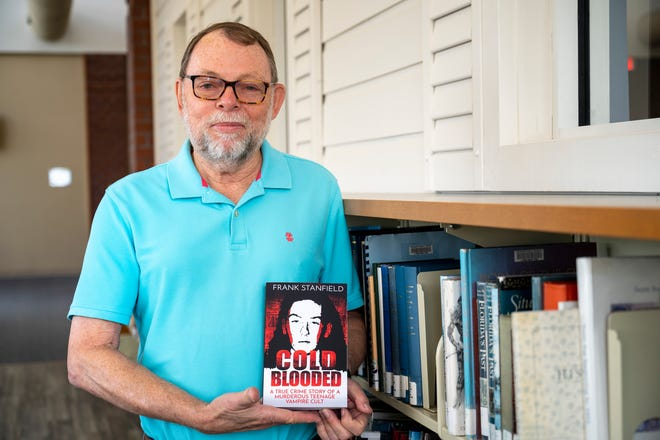 """Seasoned journalist Frank Stanfield recently published his third book, """"Cold Blooded: A True Crime of a Murderous Teenage Vampire Cult,"""" which tells the true story of the """"vampire killer"""" Rod Ferrell. [Cindy Peterson/Correspondent]"""