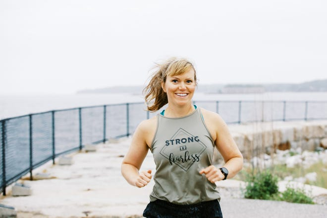 Katie Spotz is an ultra-endurance athlete, completing challenges running, biking, swimming, and rowing.