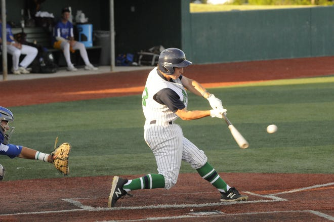 Nicholas Dardas of the Lake Erie Monarchs connects for a hit during a game Wednesday.