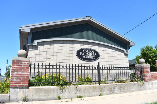 The Adrian Farmers Market Pavilion on Toledo Street is pictured Thursday afternoon. The Adrian City Commission has designated the farmers market pavilion and the Toledo Street parking lot as locations where food truck vendors can rent a parking space on public property.