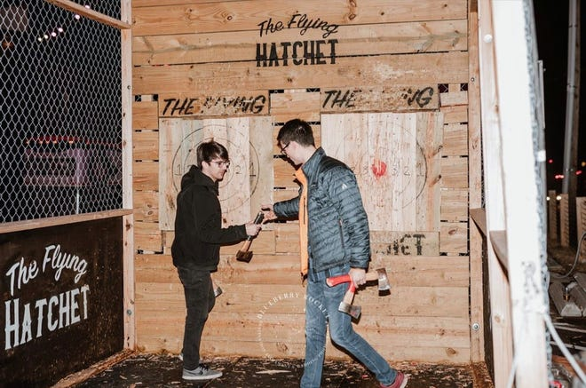 The Flying Hatchet, a mobile axe throwing business, will be at Lexington's Bull City Ciderworks on Father's Day.