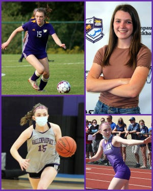 A solid contributor to three sports, Wallenpaupack Area's Megan Desmet is eyeing a productive senior year with the Lady Bucks. Meg has been a vital component to Paupack's soccer, basketball, and track programs since her freshman year.