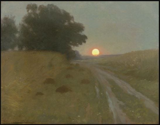 The full moonrise, painted in 1898 by Alexis Jean Fournier (1865-1948). Private collection. Public domain/Wikimedia Commons