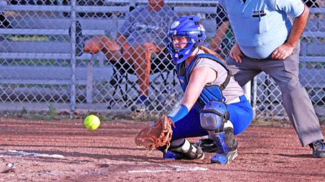 Danville High School sophomore catcher Carlea Beckman is off to a big start to the season, along with her Bears teammates.
