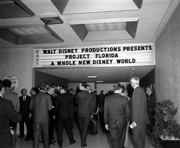 Nov. 15, 1965: Disney World press conference - Orlando, Florida. (State Archives of Florida)