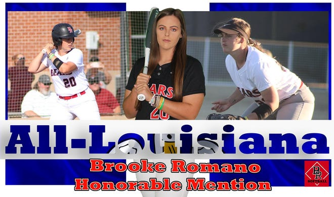 St. Amant alum Brooke Romano of BRCC was an honorable-mention selection on the all-collegiate team.