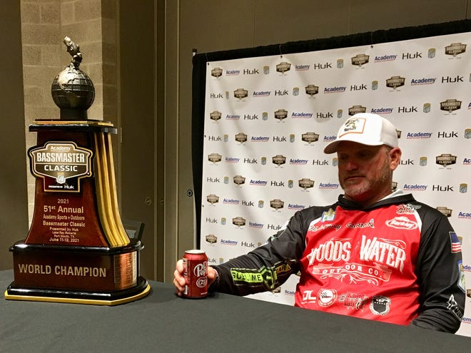 For the second year in a row, North Carolina angler Hank Cherry had a lot to think about after capturing the Bassmaster Classic title. He won the 51st Classic at Lake Ray Roberts, becoming only the fourth angler in history to win back-to-back Classic trophies.