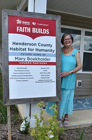 Mary Boekholder has been provided with a new home in Dodd Meadows in East Flat Rock thanks to Henderson County Habitat for Humanity and its community partners.