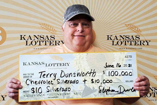 Terry Dunsworth of Hutchinson won a Chevy Silverado pickup and $10,000 cash with a Kansas Lottery scratch-off ticket.