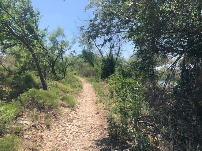 A bike trail near the Historical Dunbar Lake in Lubbock.