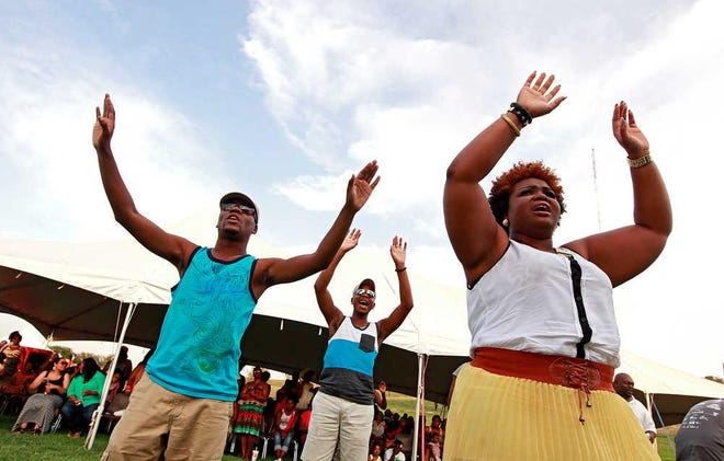 Lubbockites celebrate at a Juneteenth Festival in Mae Simmons Park.