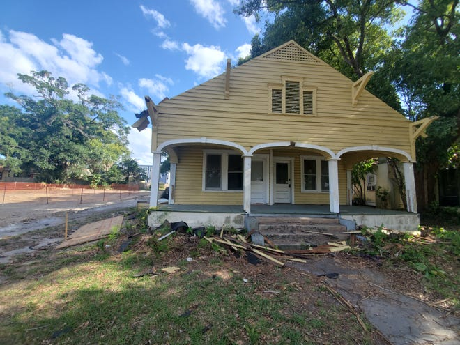 The house at 721 E. Orange Street was built in the 1920s, in the Craftsman bungalow style featuring a three arch, or gabled from porch. Once slated for demolition, part-time Lakeland resident Gregory Fancelli has stepped in to move the house to East Lime Street.