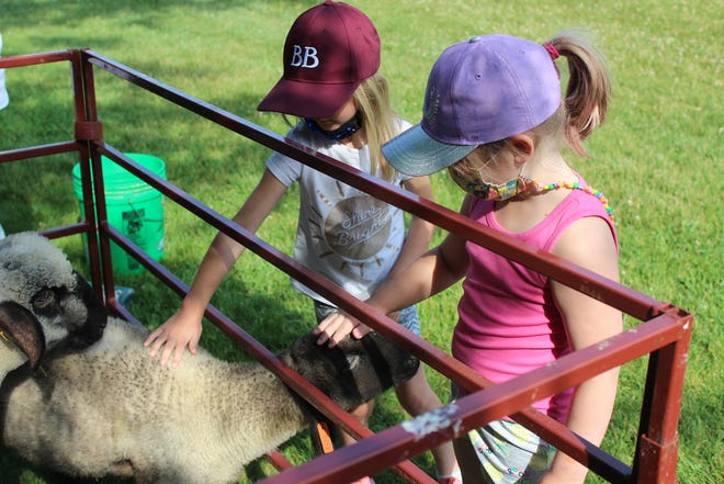The Byron-Bergen FFAintroduced younger students to cows,sheep, goats and duckson the elementary school grounds June 11.