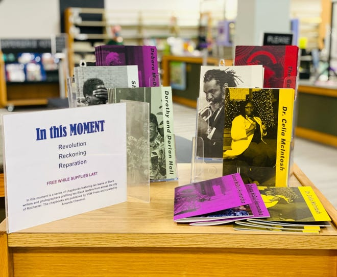 """The Webster Public Library is offering a series of chapbooks, """"In This Moment,"""" that features 10 teams of Black writers and photographers profiling 10 Black leaders from Rochester."""