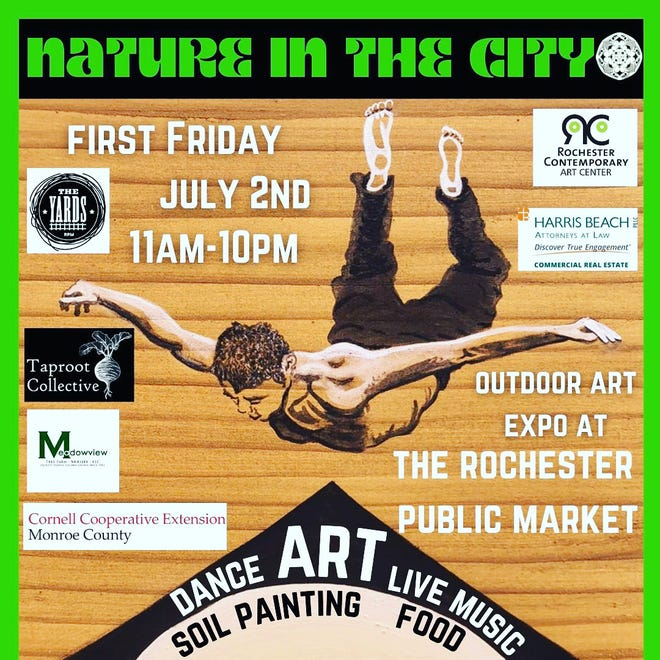 The Nature in the City Art Expo will be held from 11 a.m. to 10 p.m. July 2 at the Rochester Public Market, 280 N. Union St.