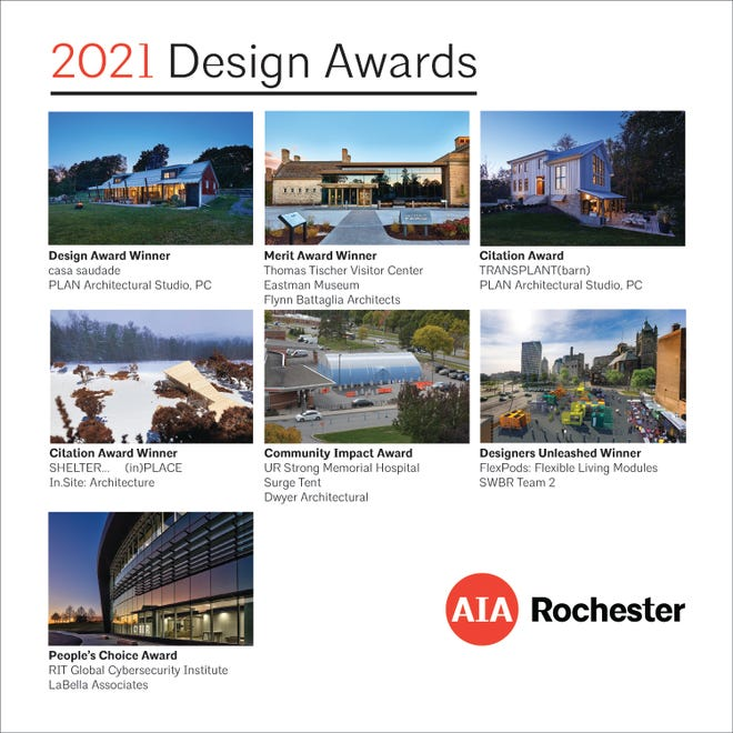A compilation of AIA Rochester's 2021 Design Awards winning projects.