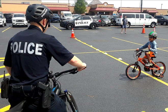 Staff from the Webster Public Library, Webster Parks and Recreation, the Webster Police Department and the Monroe County Office of Traffic Safety recently hosted a bike skills rodeo for Webster families in the Webster Parks and Recreation parking lot.