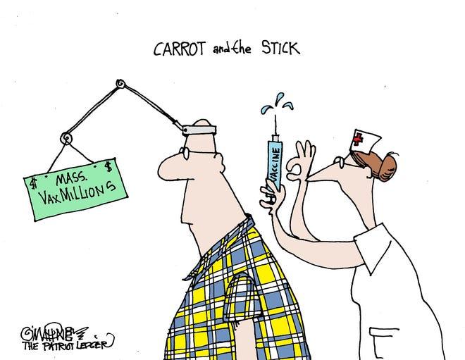 Joe O'Mahoney cartoon on vaccine incentives