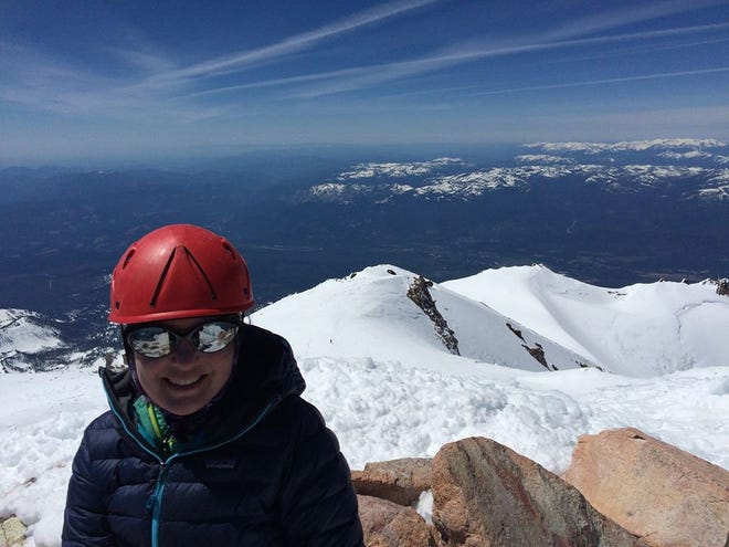 Mount Shasta naturopathic doctor Christina Caselli was the local climber in the 2020 Climb Against the Odds.