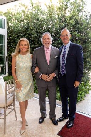 Gail Worth, Frank Orenstein and Andrew Orenstein at Club Colette