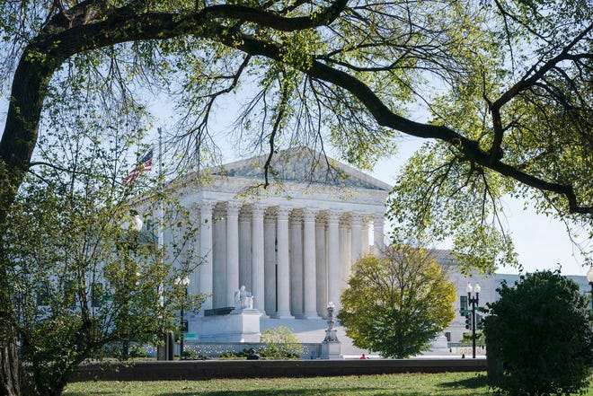 The Supreme Court as seen on Election Day, Tuesday, Nov. 3, 2020, in Washington. The high court ruled earlier this week with a Catholic foster agency in its case against the City of Philadelphia.