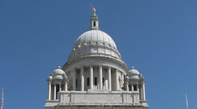 The Rhode Island State House dome.