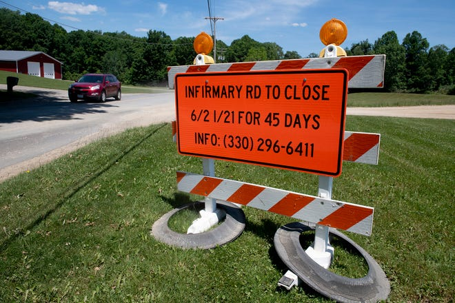 Infirmary road, just north of Dudley road, in Mantua to close for 45 days.