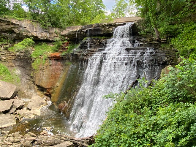Cuyahoga Valley National Park is rich with an array of waterfalls, including the 60-foot Brandywine Falls.