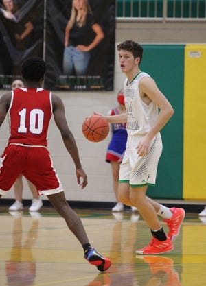 Bishop Carroll's Alex Littlejohn, right, is one of two KWU basketball signees playing in the KBCA All-Star Games on  Saturday at Mabee Arena.