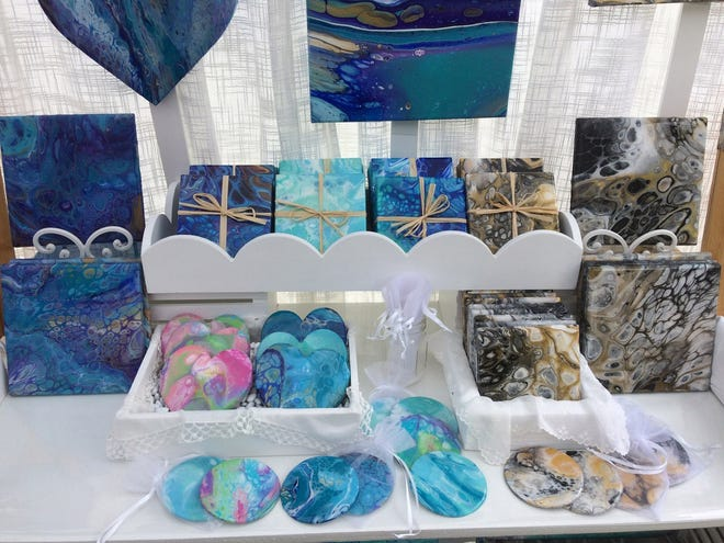 Venice-based artist Debra Larson, who specializes in acrylic pours, is one of several artists who routinely participate in Howard Alan-organized crafts festivals. The 28th annual Downtown Venice Craft Festival is set for 10 a.m. to 4 p.m,, Saturday and Sunday.