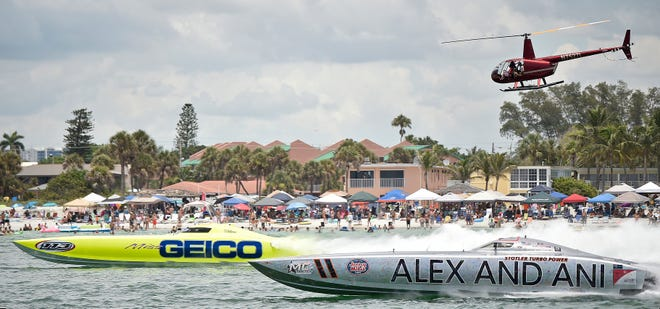 Formerly known as theSarasota Powerboat Grand Prix Festival,Suncoast Summer Fest features powerboat races off Lido Beach and more this weekend including a downtown block party.
